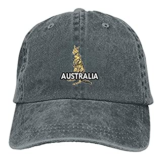 Australian Kangaroo Adjustable Cowboy Hat Baseball Cap for Men and Women QW5213