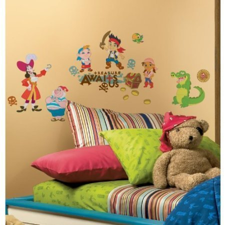 JAKE AND THE NEVERLAND PIRATES Wall Stickers CAPTAIN HOOK Room Decals TREASURE by Prodashop