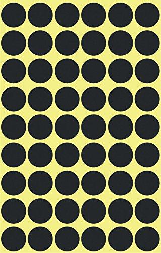 Avery 3140 puntos de etiqueta, diámetro 12 mm, 5 hojas, 270 etiquetas, negro