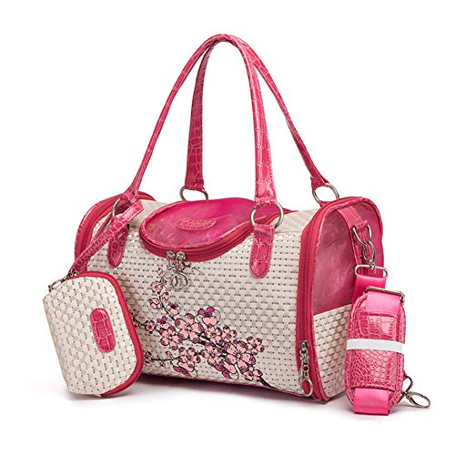 DALEI Mode Pet Carrier Dog Carrier Geldbörse Hund Handtasche Pet Tote Bag für kleine Hunde und Katzen Airline-Approved,Rosa -