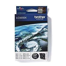 Brother LC-985BK Inkjet Cartridge, Black, Single Pack, Standard Yield, Includes 1 x Inkjet Cartridge, Brother Genuine Supplies