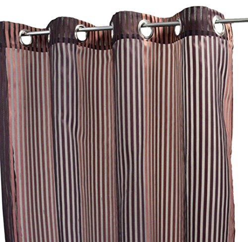 Homemaison tenda in jacquard fantasia a righe verticali tessute, poliestere, prugna, 250x 140cm