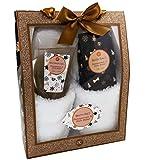 Badeset GLITTER Geschenkbox mit Pantoffeln Duschgel Badesalz - GRANATAPFEL SHEABUTTER