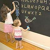 MFEIR® Tafel-Aufkleber Selbstklebende Tafelfolie Kreidetafel in der Größe 60x200 cm in Schwarz