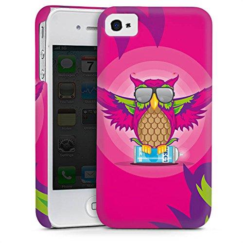 Apple iPhone 5s Housse Étui Protection Coque Hibou Hibou Rose vif Cas Premium mat