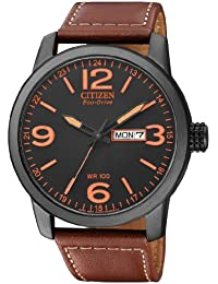Citizen Herren-Armbanduhr XL Analog Quarz Leder BM8476-07EE