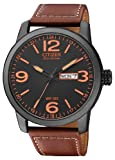 Citizen Herren-Armbanduhr XL Analog Quarz Leder BM8476-07EE