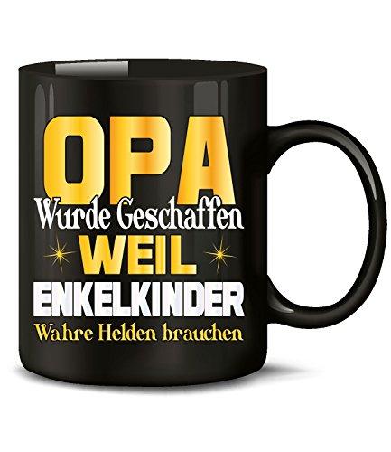 OPA WURDE GESCHAFFEN WEIL ENKELKINDER WAHRE HELDEN BRAUCHEN 5195(Schwarz)