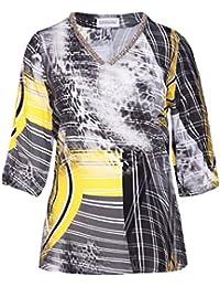 Sempre Piu by Chalou long Shirt Tunika schwarz grosse Grössen XXL langarm