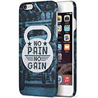 No Pain No Gain Apple iPhone 6 PLUS / iPhone 6S PLUS SnapOn Hard Plastic Phone Protective Carcasa Cubierta Case Cover