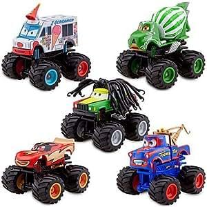 "Disney Pixar Cars Toon Exclusive ""Deluxe Monster Truck Mater / Martin Figurine Set"" - PVC - 5 Cars (Disneystore exclusive) - Véhicule Miniature - Voiture"