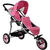 Twin Doll Stroller - Fits 18 Inch Dolls - (Pink)