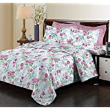 Bombay Dyeing Elixir 144 TC Cotton Double Bedsheet with 2 Pillow Covers - Pink