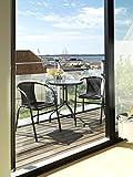 JYSK Garden Bistro table BLOKHUS D60 st/glass bl