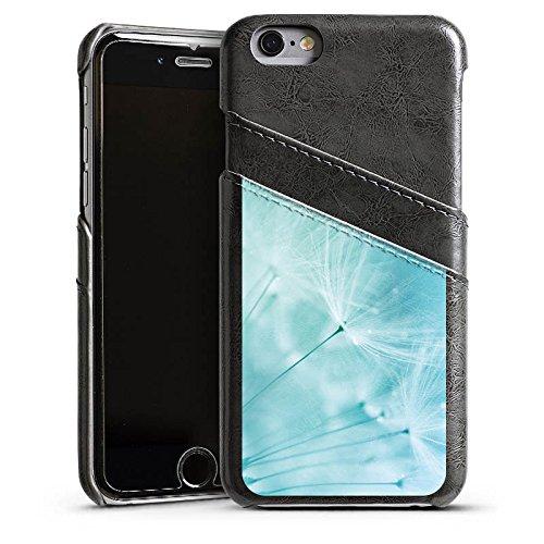 Apple iPhone 4 Housse Étui Silicone Coque Protection Pissenlit Bleu Bleu Étui en cuir gris
