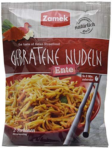 Zamek Gebratene Nudeln mit Ente · Nudeln mit knuspriger Ente und leckerem Gemüse · asiatischer Genuss, schnell & einfach zubereitet, 12er Pack (12 x 125 ml)