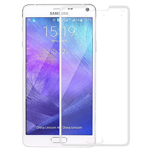 SNOOGG Samsung Galaxy Note 4 Full Body Tempered Glass Screen Protector [ Full Body Edge to Edge ] [ Anti Scratch ] [ 2.5D Round Edge] [HD View] – White