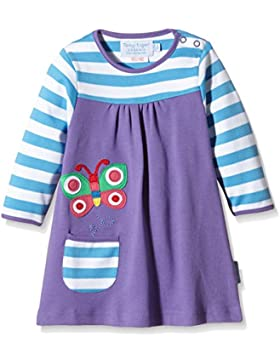 Toby Tiger Long Sleeve Butterfly Applique T-Shirt Dress, Vestito Bambina, Taglia Unica