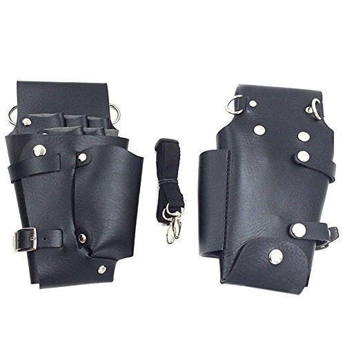 Preisvergleich Produktbild Saflyse Friseur-Tasche Werkzeugtasche Friseurtasche Scherentasche mit Schultergurt--Schwarz