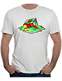 35mm - Camiseta Hombre - Sheldon Cooper Cubo Rubik The Big Bang Theory - T-