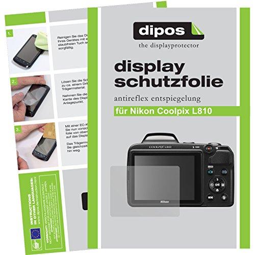 2x Dipos Antireflex Displayschutzfolie für Nikon Coolpix L810