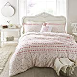 Emma Bridgewater Hearts and Flowers Duvet Cover, Cotton, Pink - Super King