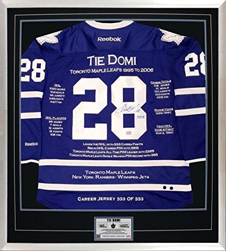 Generic Krawatte Domi Karriere Jersey # 333von 333–Autogramme–Toronto Maple Leafs