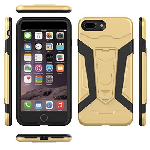 iPhone6S Cover, Super Light Armor Foldable Movie Video Back Stand Slim Custodia, TAITOU New Ultra Hybrid 2 In 1 Thin Anti Drop/Scratch Warrior Protect Phone Cover For Apple iPhone 6 Blue BBrown