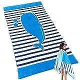 Uniuooi Badetuch Strandtuch, XL, für Kinder, Jungen und Mädchen, 100% Baumwolle, super weich, für Reisen/Spa, baumwolle, Delfin, 80*160cm/31.5*63inch