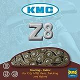 KMC Chain Z8 Cadena Estrecha, Unisex Adulto, Gris, 116 eslabones