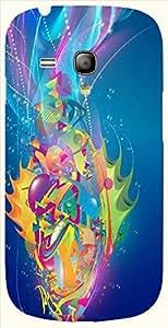 Prominent multicolor printed protective REBEL mobile back cover for S3 Mini / Samsung I8190 Galaxy S III mini D.No.N-L-10654-S3M