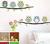 CIDBEST® Cartoon Kinderzimmer Schlafzimmer WÄnde gemalt dekorative Aufkleber niedliche Eule schön Cartoon entfernbare Wandaufkleber