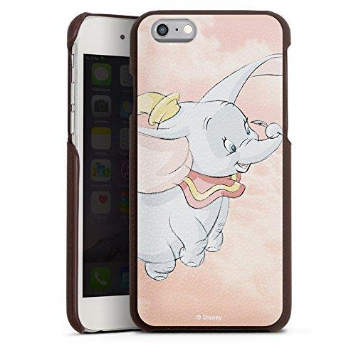 Apple iPhone 7 Lederhülle Leder Case Leder Handyhülle Disney Dumbo Fanartikel Merchandise Leder Case braun