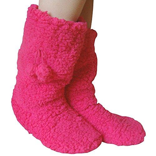 Teddy, Pantofole Da Donna Scarpe Inglesi Taglia 4-7 Rosa - Fucsia Rosa