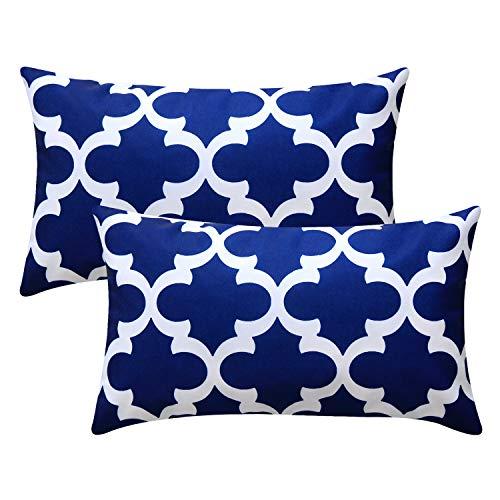Top Finel Dekorative Kissenbezüge, strapazierfähiges Segeltuch, für Couch Schlafzimmer Auto A-Two Packs, 12