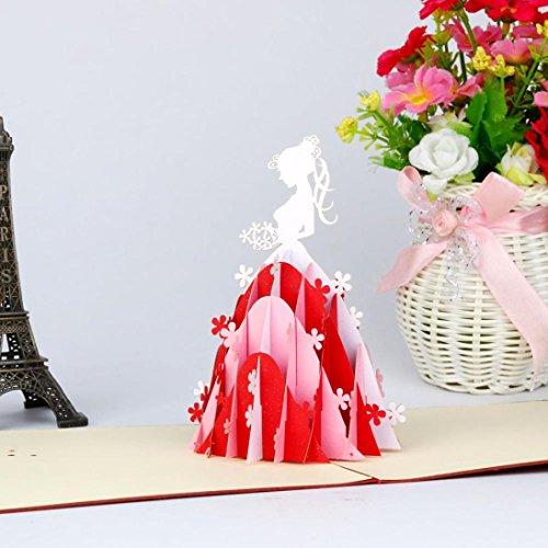 Pop Up Karten Valentine Lover Happy Birthday Jahrestag Grußkarten (A) (Valentine Karten Für Kinder)