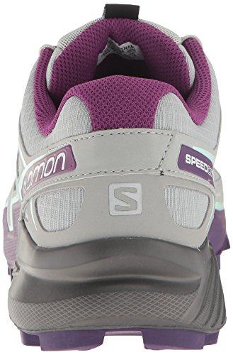 Salomon Speedcross 4 W, Chaussures de Trail Femme, Rouge Gris (Quarry/acai/fair Aqua)