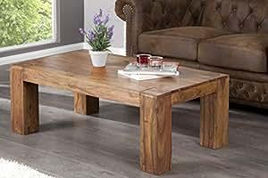 En bois de palissandre massif sheesham table basse jAKARTA 115 cm