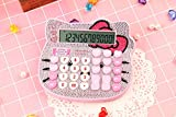 IVY Taschenrechner, Bogen rosa niedlich kreative Karikatur 12-Bit-LED-Display rosa Nette Sprachcomputer,Rosa