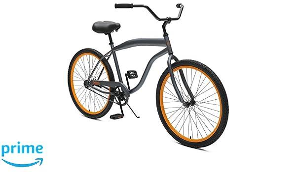Critical Cycles Men\'s 2357 Bike, Graphite/Orange, 1-Speed/26-Inch ...