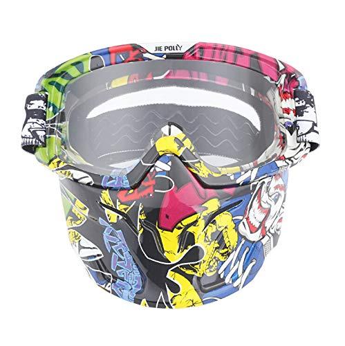 KnBoB Skibrille Für Brillenträger Herren Motorradbrillen Für Crosshelm Ski Maske Baumwolle A01-Weiß