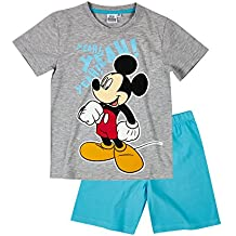 Disney Mickey Chicos Pijama mangas cortas - Gris