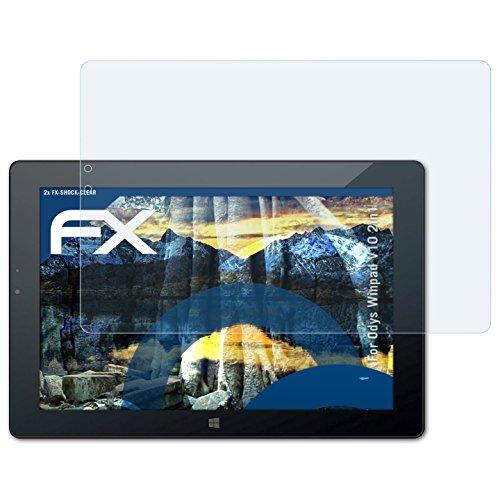 atFolix Schutzfolie kompatibel mit Odys Winpad V10 2in1 Panzerfolie, ultraklare & stoßdämpfende FX Folie (2X)