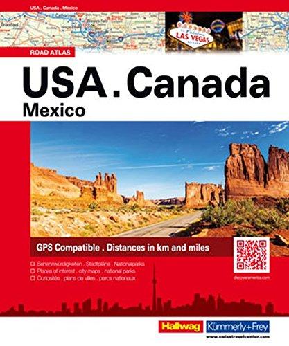 USA/ Canada/ Mexico: Strassenatlas (Hallwag Atlanten)