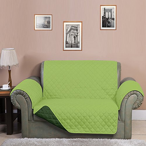 "@home Microfibre Reversible Sofa Cover - 70""x110"", Light Green and Dark Green"