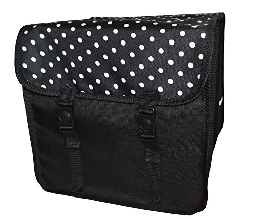 Beluko FAHRRADTASCHE Erwachsene Satteltasche Gepäckträgetasche Doppel 2x15l/Einzelne 1x15l (19. Duo - Polka Dots, Duo - Doppel)
