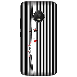 Wizzart Moto G5s Plus Back Cover Case In Print Designer Cases And Covers Black And White Shy girl Print Design