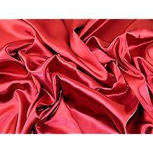 Vestido de satén tela de acetato color rojo oscuro–por metro