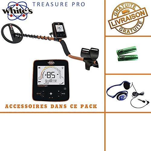 White 's Treasure Pro - Detector de metales, incluye casco y auriculares