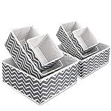 Boîte de rangement en tissu pliable pour armoire, tiroir de placard, commode,...